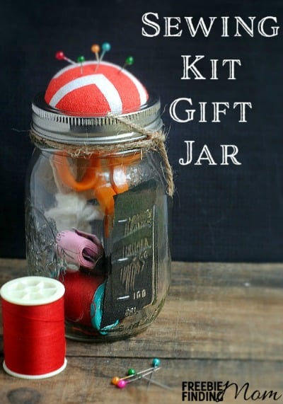 Sewing Kit Gift Jar