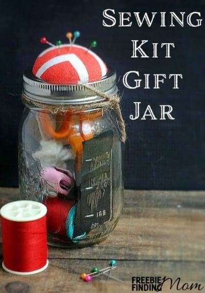 Sewing Kit Gift Jar