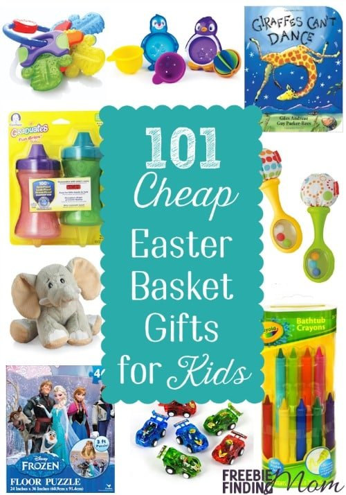 Need creative Easter basket gift ideas? Here you go...101 fun and cheap Easter basket ideas that are sure to please any recipient from baby to teens.