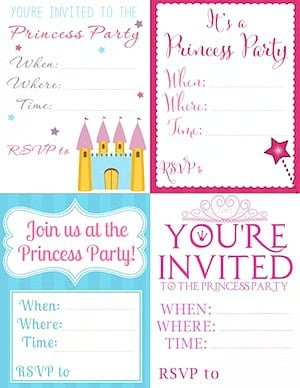 printable invitations to promote frugal birthday party ideas