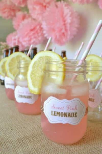 mason jar drinking glasses to promote frugal birthday party ideas
