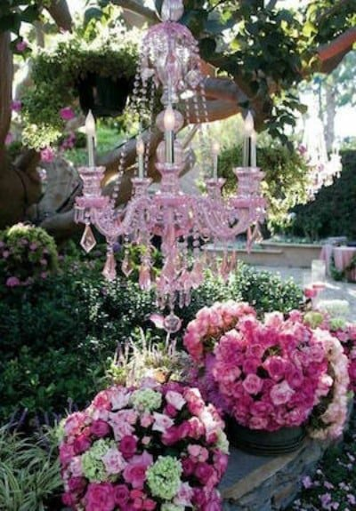 chandelier to promote frugal birthday party ideas