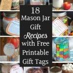 18 Mason Jar Gift Recipes with Free Printable Gift Tags