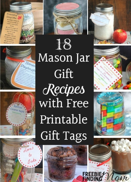 18 mason jar gift recipes with free printable gift tags negle