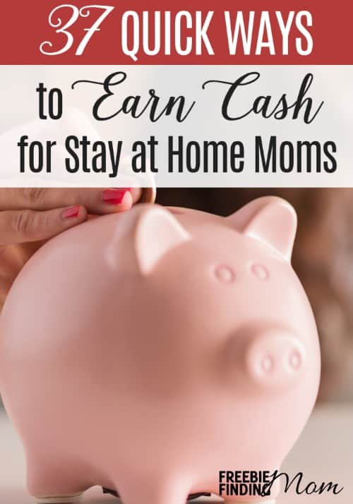 Calling all stay at home moms! Could you use extra money to pay your monthly bills? These 37 Quick Ways to Earn Cash for Stay at Home Moms will provide you with money making ideas that you can quickly and easily implement into your daily life. You'll discover ways to make money at home, make money online, and more. What are you waiting for? Start making money for your family now!