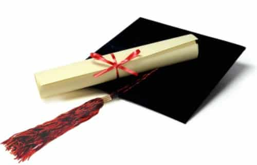 hat and diploma to promote ways to earn cash