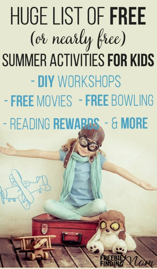 Are the kids bored? They won't be after you peruse this HUGE list of FREE summer activities for kids.