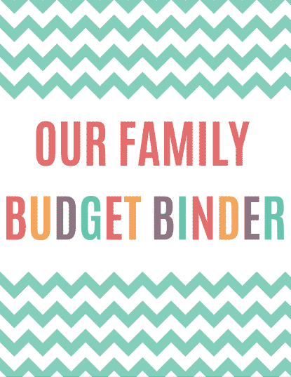 Printable Budget Binder Cover