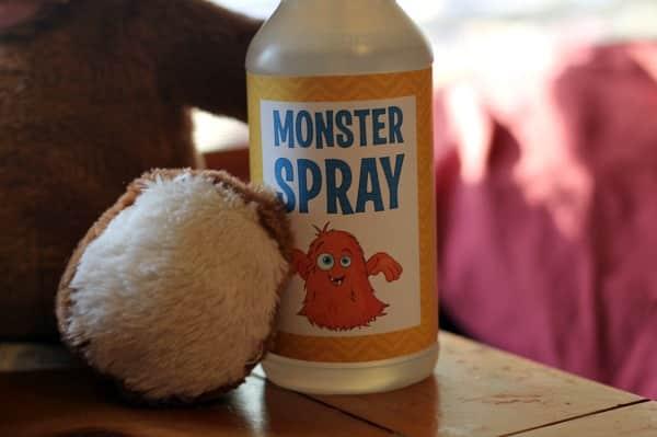 Free Printable Monster Spray Label 3