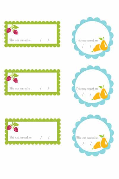 canning jar printable labels