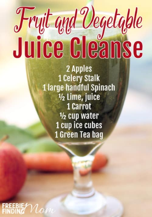Want to get a jumpstart on your New Year's resolution? If you'd like to lose weight and get your body in better shape then consider trying a vegetable juice cleanse. Even if you've got a rockin' bod already, you can still benefit from the nutritional boost this homemade fruit and vegetable juice cleanse will provide. It is packed with produce that'll fill you up and have you feeling great plus it only takes minutes to make.