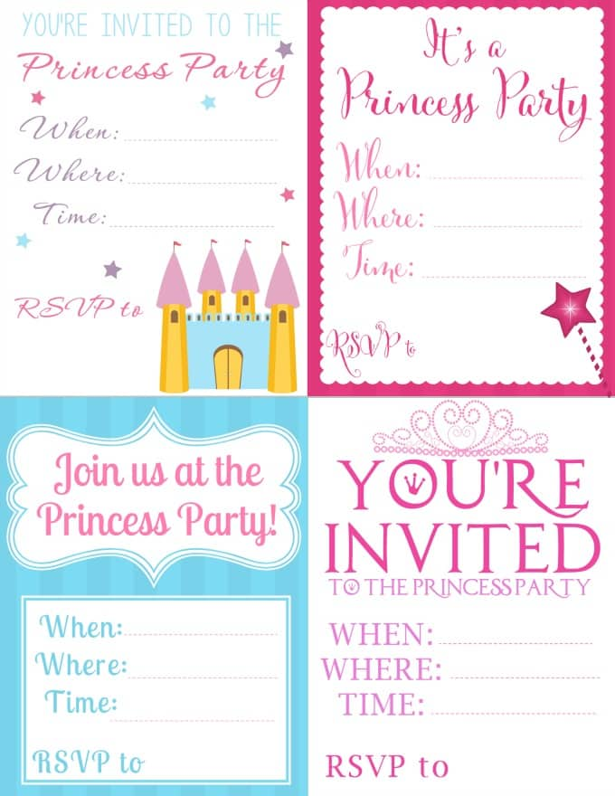 free printable princess party invitations - seriously adorable!, Birthday invitations