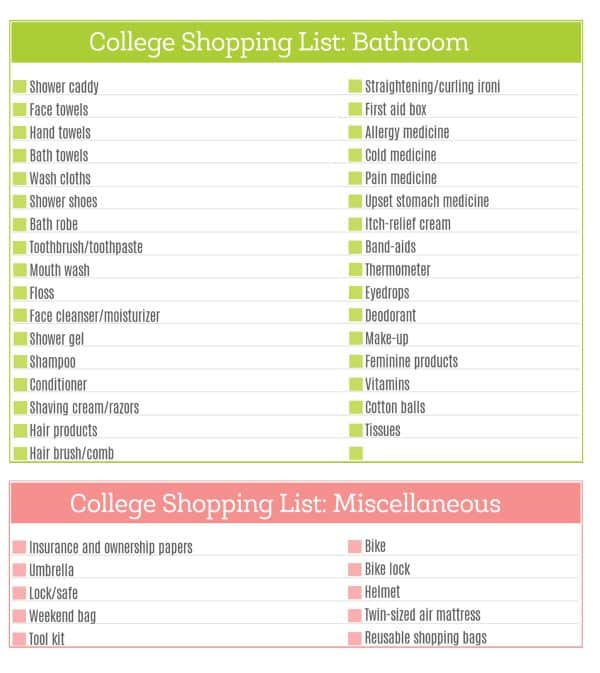 The Ultimate College Shopping List Page 3