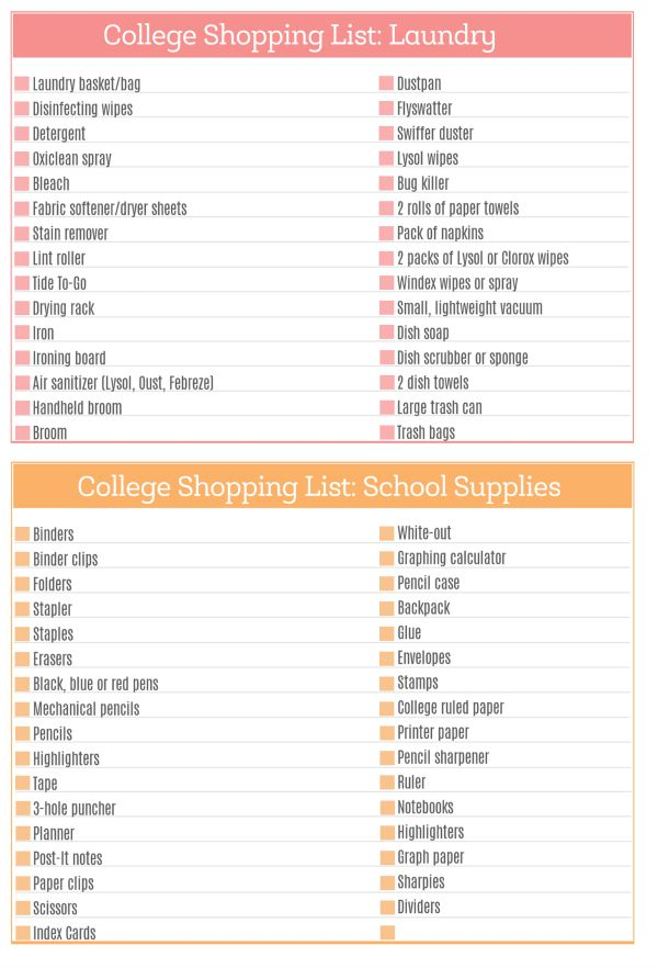 The Ultimate College Shopping List - Page 4