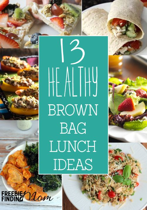 Skip the fast food restaurants for lunch, and take a few minutes before you leave home to whip up one of these 13 healthy brown bag lunch ideas. You'll save money and calories, and you won't have to sacrifice on taste either.