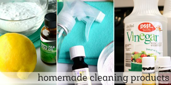 how to make homemade cleaning products with essential oils