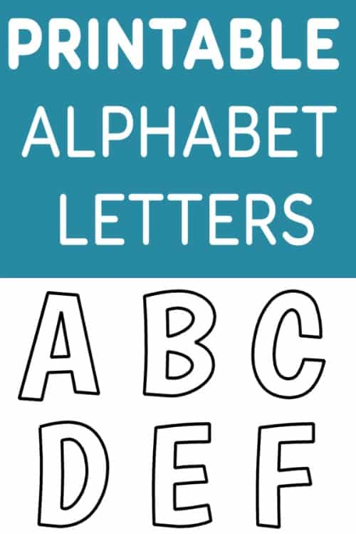 Declarative image in printable cut out letters alphabet