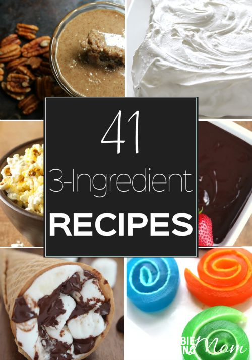 Looking for cheap and easy recipes to make? Here you go…recipes don't get much simpler (or more delicious) than these 41 3-ingredient recipes.