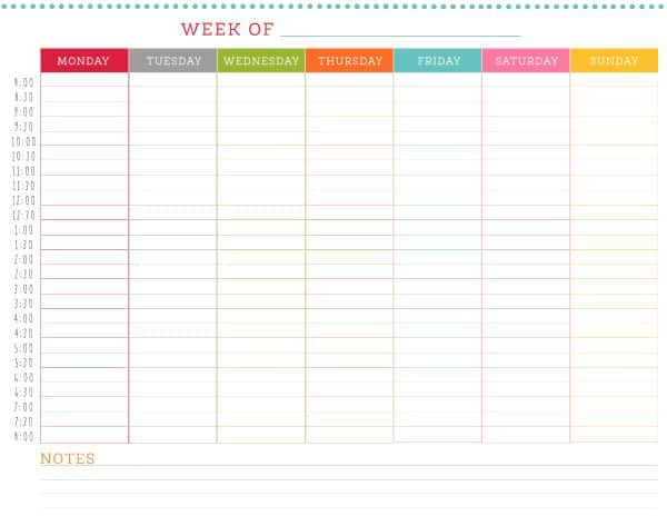 This is a photo of Luscious Free Daily Schedule Printable
