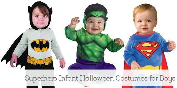 Superhero Infant Halloween Costumes for Boys