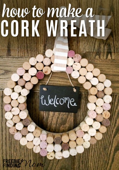 Crafts With Wine Corks Homemade Cork Wreath