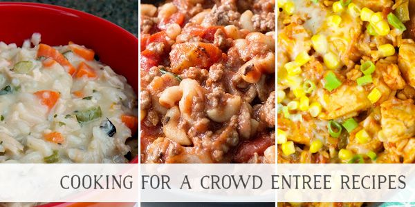 Cooking For a Crowd Recipes for Entrees