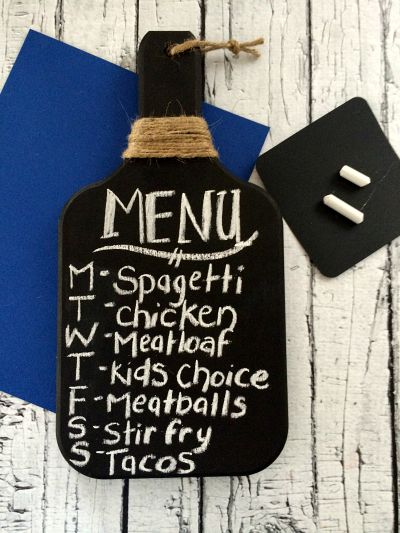 DIY Kitchen Chalkboard Final