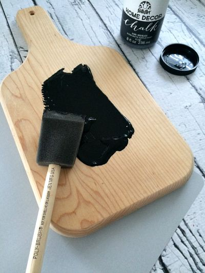 DIY Kitchen Chalkboard Step 1