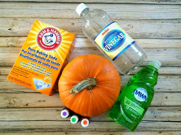 Fun Fall Preschool Project: Mini Pumpkin Volcanoes Ingredients