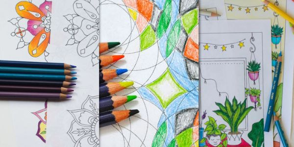 Free Printable Adult Coloring Pages Collage 2