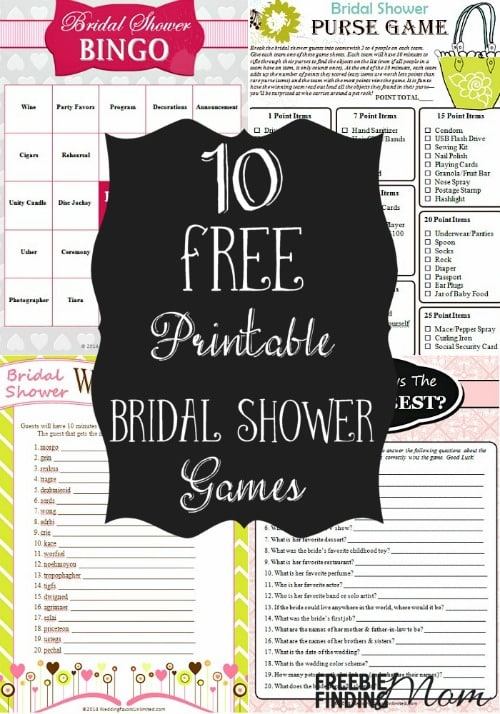 picture regarding Bridal Shower Games Free Printable identified as 10 No cost Printable Bridal Shower Game titles