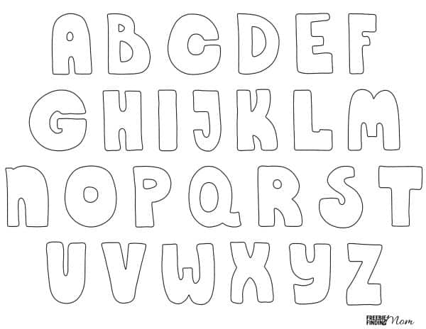 Free Printable Bubble Letters Download