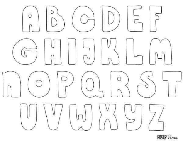 FREE Printable Bubble Letters