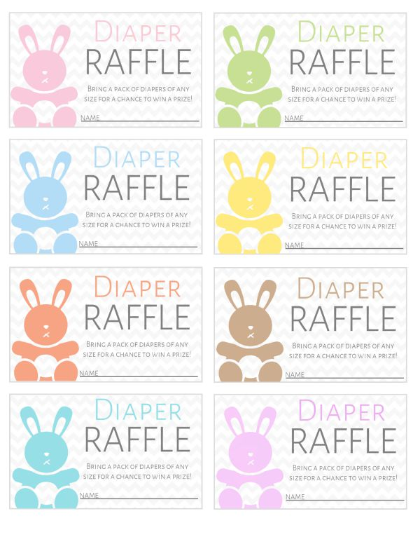 Bright image regarding free printable diaper raffle tickets