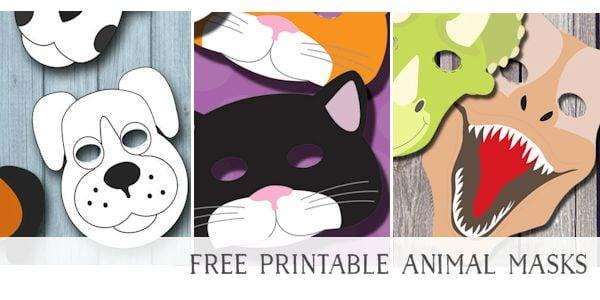 Free Printable Masks for Kids Animals