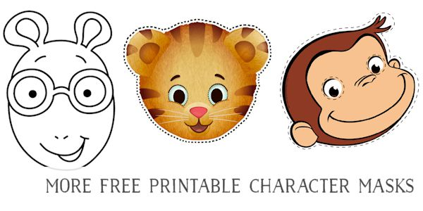 Free Printable Masks for Kids Characters