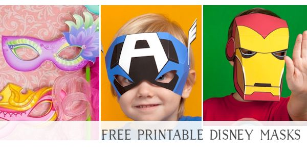 Free Printable Masks for Kids Disney Characters