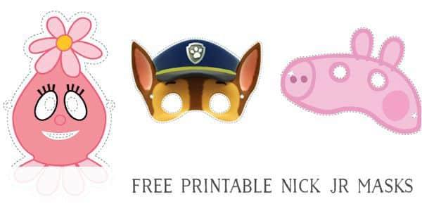 Free Printable Masks for Kids Nick Jr Characters