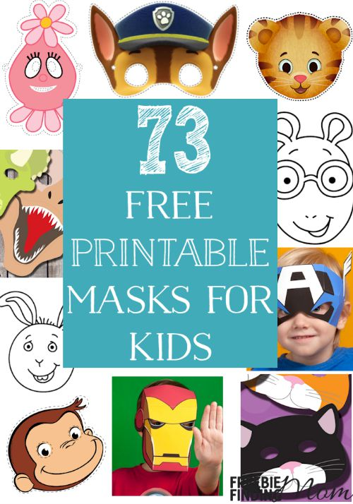 Do your kids love to play dress up and pretend to be a princess or super hero? Here's a fun yet frugal way for them to quickly transform into their favorite character or animal, download these free printable masks for kids. Here you'll find masks for Disney characters, Nick Jr characters, animals, and more.