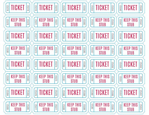 FREE Printable Raffle Tickets – Printable Tickets Free