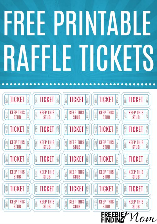 Free printable raffle tickets for Free printable raffle ticket template