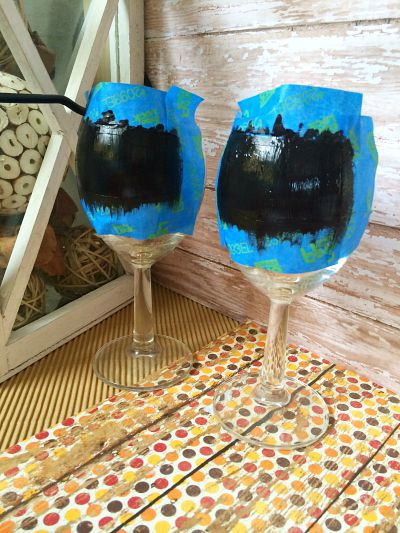 How to Paint Wine Glasses 3