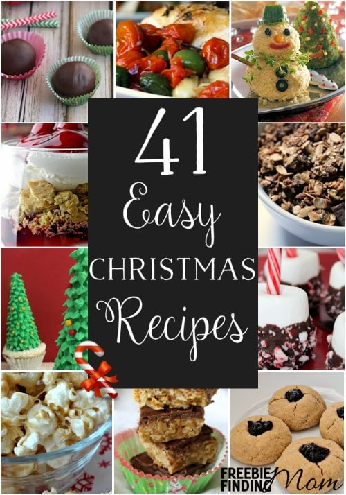 Who said delicious holiday recipes have to be complicated? The holidays are busy and stressful enough, so lighten up your work in the kitchen with the help of these 41 easy Xmas recipes. Here you'll find Christmas recipes for breakfast, appetizers, side dishes, entrees, desserts, and drinks that are sure to impress your family and friends.