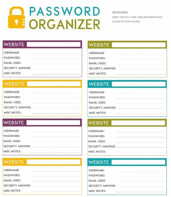 Free Printable Password Log free printable password organizer (a.k.a ...