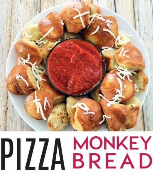 Want to change up pizza night? Here's a fun and delicious variation, pizza monkey bread. Your family will love the ooey, gooey goodness of this pull apart bread recipe.