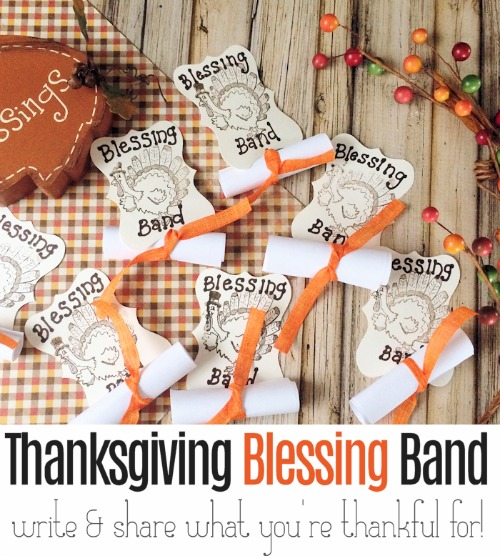 Here's a fun way to encourage your friends and family to give thanks this Thanksgiving. Give everyone a Thanksgiving Blessing Band before they sit down for the Thanksgiving meal and have them jot down everything they are grateful for. At mealtime, they will share their thoughtful, heartfelt list.