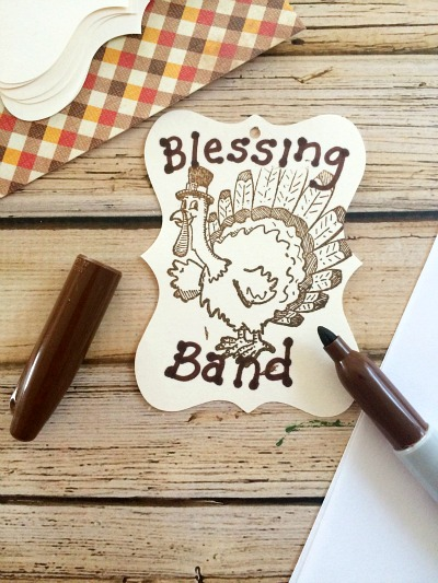 Thanksgiving Blessing Band Step 2