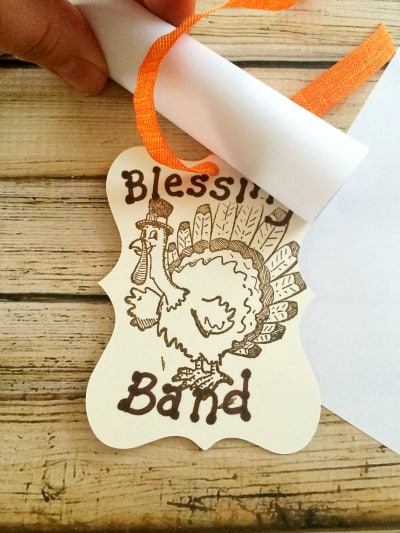 Thanksgiving Blessing Band Step 5