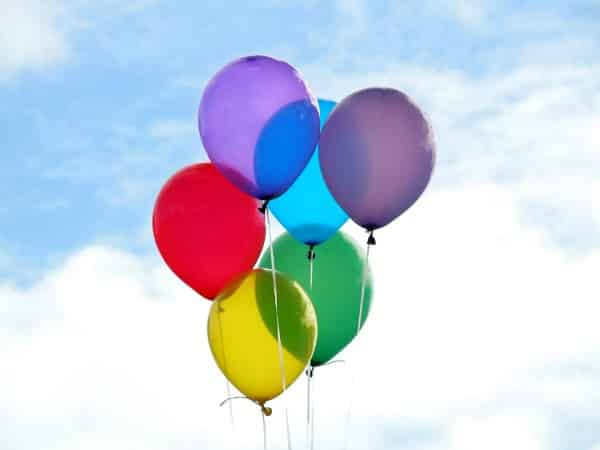 Balloons to promote kids birthday freebies experiences
