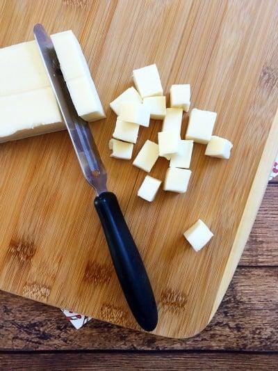 Christmas Tree Cheese Platter Step 1
